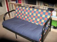 4' 6; double futon; folding bed settee