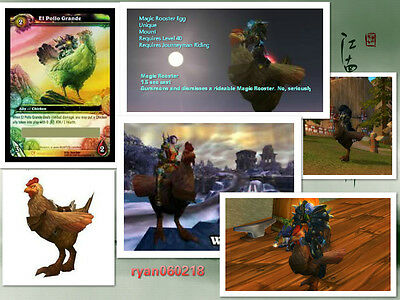 World of Warcraft El Pollo Grande LOOT Card Unused NEW Chicken Mount Unscratched