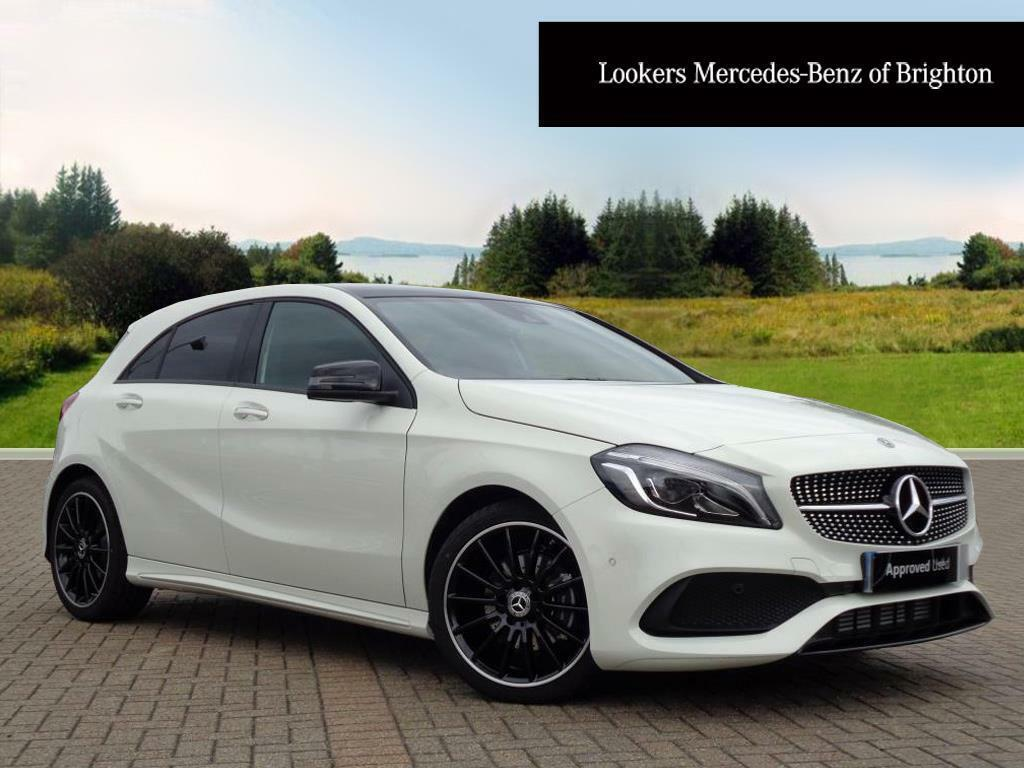 mercedes benz a class a 180 d amg line premium plus white. Black Bedroom Furniture Sets. Home Design Ideas