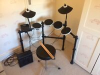 ION Redline Electronic Drum Kit, Stool & Kinsman Amplifier