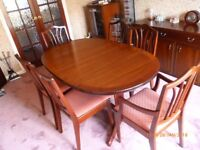 COMPLETE DINING ROOM.... WILLIAM LAWRENCE FURNITURE ALL MAHOGANY