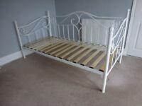DREAMS AMY WHITE METAL SINGLE BED