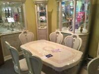 Italian Dining Table And Four Chairs