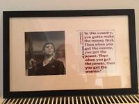 Scarface poster and quote £5