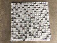 Porcelanosa Mosaic Designer shower wall tile. White trinity. 30 x 30 cm. NEW.