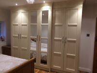 Fitted furniture Design and manufacturing, colour spraying, oak mdf veneer