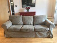 Three-seat Ikea Ektorp Sofa (Beige)