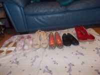 women shoes size 4all £5.00 a pair