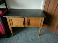antique marble top side board