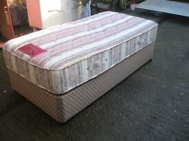 MODERN SINGLE DIVAN WITH QUALITY 'KOZEE' ORTHOPAEDIC MATTRESS. VIEW/DELIVERY AVAILABLE
