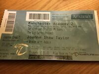 Joanne Shaw Taylor Ticket Manchester 21/01/17 SOLD OUT