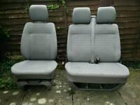 Volkswagen Vw t4 caravelle transporter front row 2+1 seats grey