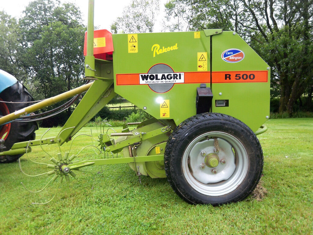 Rekord R500 Mini Round Baler And Fw500 Wrapper In