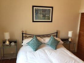 Double bed frame and 2 bedside cabinets. Bought for holiday home, rarely used, like new.