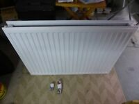 Two Double panel convector radiators, 800 x 600mm