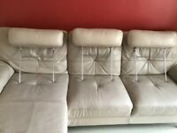 Furniture DFS 2 & 3 Seater Sofas with Cuddle Swivel Chair and Footstool