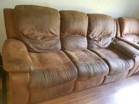 FREE 3 SEATER RECLINER WITH MATCHING ARMCHAIRS
