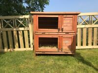 2 TierRabbit Hutch Guinea Pig Hutches Ferret Cage