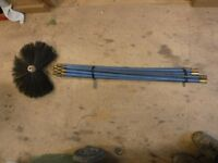 Chimney sweep rods and brush