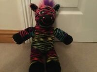 "Colour Craze Zebra Build A Bear / Bear Factory 16"" soft plush cuddly Toy"