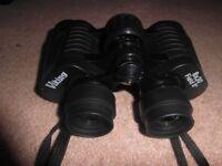 Viking 8*30 binoculars, strap, right eye diopter lens, adjustable lens caps