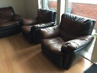 Electric recliner leather sofa set 3 piece. OFFERS WELCOME!