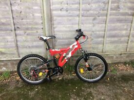 "Decathlon BTWIN 20"" full suspension children mountain bike, Very Good Condition"