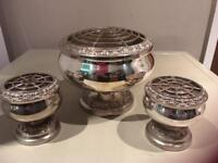 Antique silver plated rose bowls ianthe