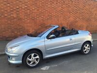 Peugeot 206 convertible very low mileage