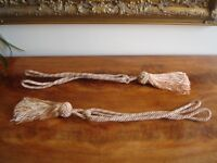 *** Lovely Gold and Brown Tassel/Tie Backs***