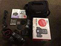 Canon EOS 600D DSLR Camera + EFS 18-55mm Lens + Canon 100EG Bag + 8GB SanDisk -LIKE NEW!!! RRP£730