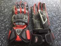Belstaf motor cycle gloves as new medium red black
