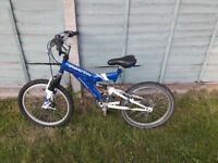 Boys bike Blue/white