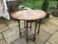 Vintage drop leaf table - ideal for restoration/shabby chic