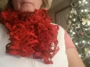 Red Ruffle Scarf Peterborough Peterborough Area image 1