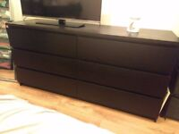 Chest of 6 drawers Ikea black