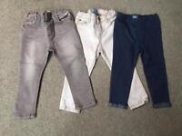 Three pairs of girls trouser - 2 years