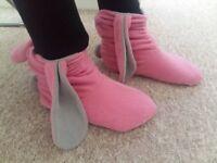 Pink Rabbit Slippers
