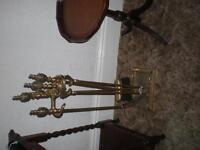 Brass Companion Fire Set - 5 piece