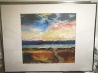 Framed prints. John Houston, William McTaggart (the younger)