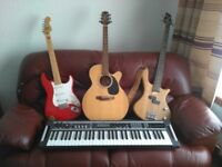 Music Lessons available - piano, keyboard, guitar, bass guitar, drums, mandolin, accordion
