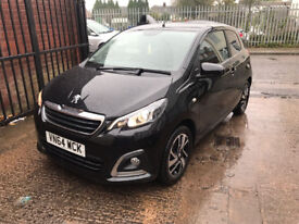 Peugeot 108 1.2 VTi PureTech Allure 3dr - 2015, 1 Lady Owner, 18K Miles, Reverse Camera, Tax Free!