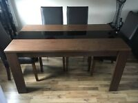 Walnut Effect Dining Table for sale [ chairs not included ]