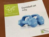 New Davina McCall Dumbbell Set - 2 x 3kg
