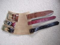 Leather wrist strap by Joey D - featuring recycled belts - UNIQUE ITEM