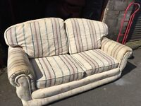 BEIGE FABRIC 2 SEATER SOFA,CAN DELIVER