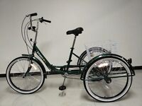 """Adults tricycle, folding frame, 24"""" wheels, 6-speed shimano gears, from BuyTricycle, SCOUT trikes"""