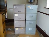 4 drawer Metal Filing Cabinets - Grey finish -2 available