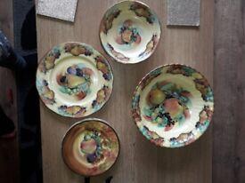 Argyle Burslem Staffordshire China Fruit Bowl/plate Dishes