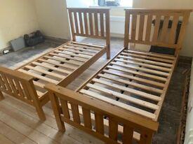 2 x Single bed frames